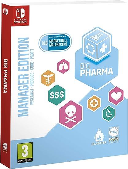 TALLA Nintendo Switch. Big Pharma. Manager Edition