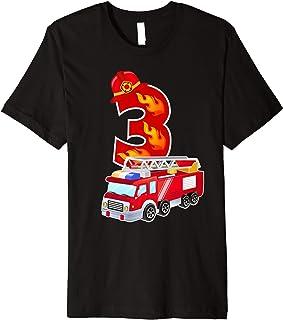 T-Shirt für Jungen, Nr. 3, Feuerwehr-Design Feuerwehrmann