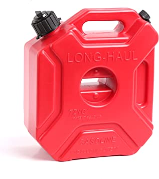 WINTOOLS 5 L/1.3 Gallon Gasoline Pack Gas Container Fuel Can (Red): image