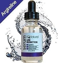 iQ Natural Argireline Wrinkle & Fine Line Serum - 30% Lipotec Argireline, 30% Matrixyl 3000 & Hyaluronic Acid, Plump Fine Lines, Relax Deeper Facial Wrinkles, And Induce Collagen Growth - 1oz