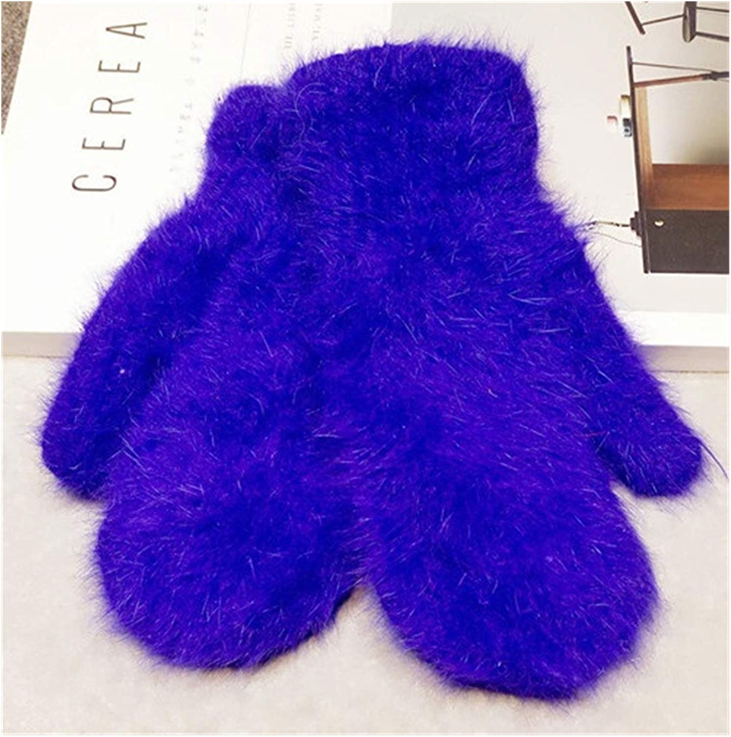 JBIVWW Winter Women Soft Warm Knit Gloves Fashion Lovely Warmer Girls' Candy Color Mittens Gloves (Color : 06, Gloves Size : One Size)