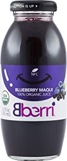 Bberri 100% Organic Blueberry & Maqui Berry Juice, Pack of 3 x 8.2 fl oz