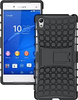 [SCIMIN] Sony Xperia Z5 Premium Case, Xperia Z5 Premium Cover, Dual Layer Protection/Shockproof/Drop Resistance Hybrid Rugged Case Cover with Kickstand for 5.5'' Sony Xperia Z5 Premium (Black)