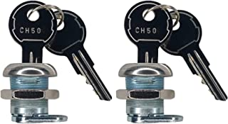 JQuad (2 Pack Keyed Alike Truck Tool Box Locks with Keys - Replacement Pickup Toolbox Lock Cylinder for Latch (2 Pack)