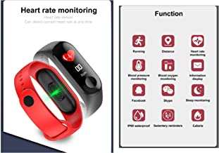 High Quality 2019 M3c Heart Rate Monitor IP68 Waterproof Band Bluetooth Smart Bracelet M3c (red)