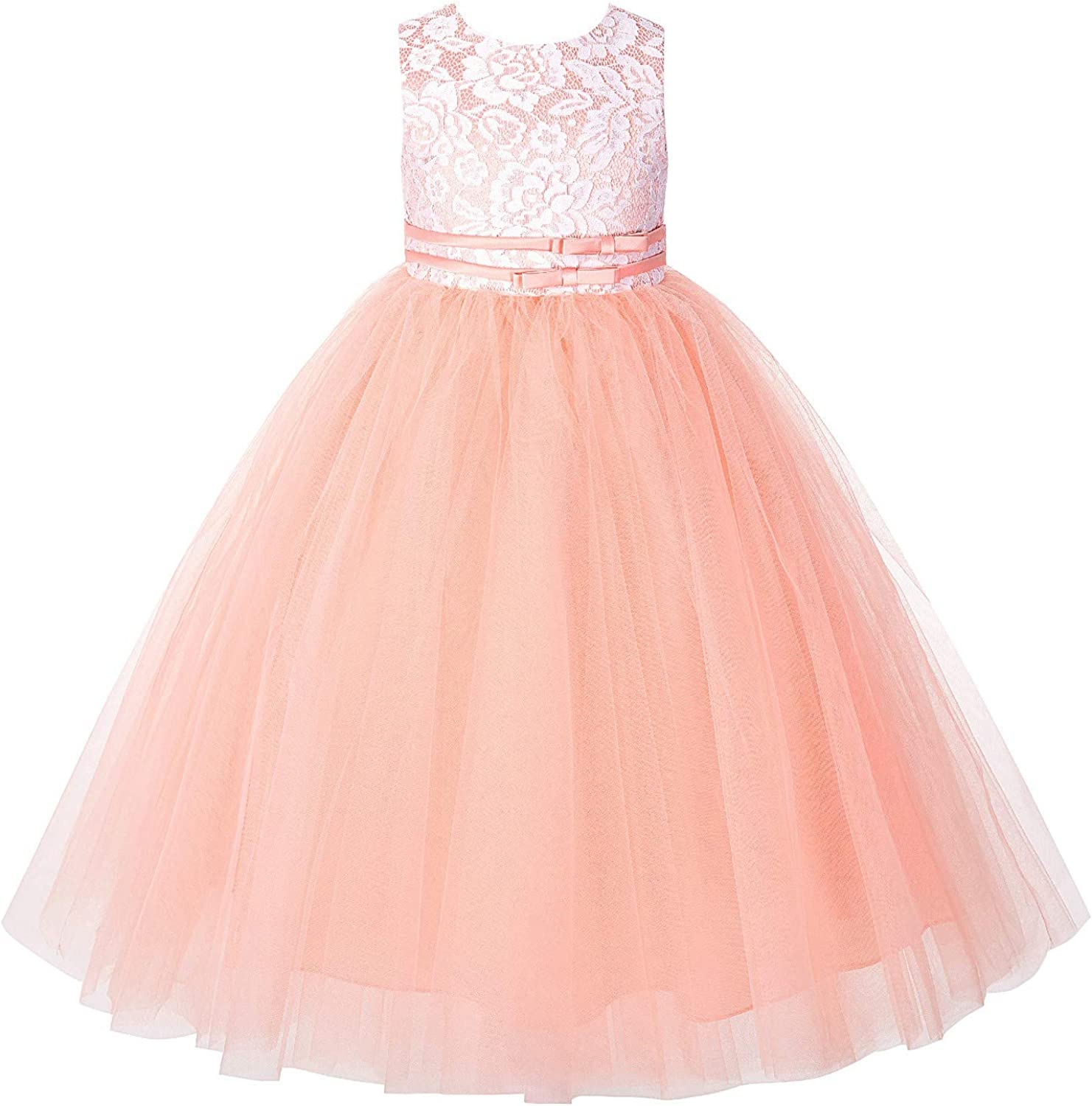 ekidsbridal Lace Tulle Tutu Baby Flower Girl Dress Formal Pageant Gown Special Occasions