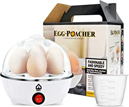 AKL Rapid Egg Cooker – 7-Egg Capacity Electric Egg Cooker for Boiled Eggs, Poached Eggs, Scrambled Eggs, or Omelettes with...