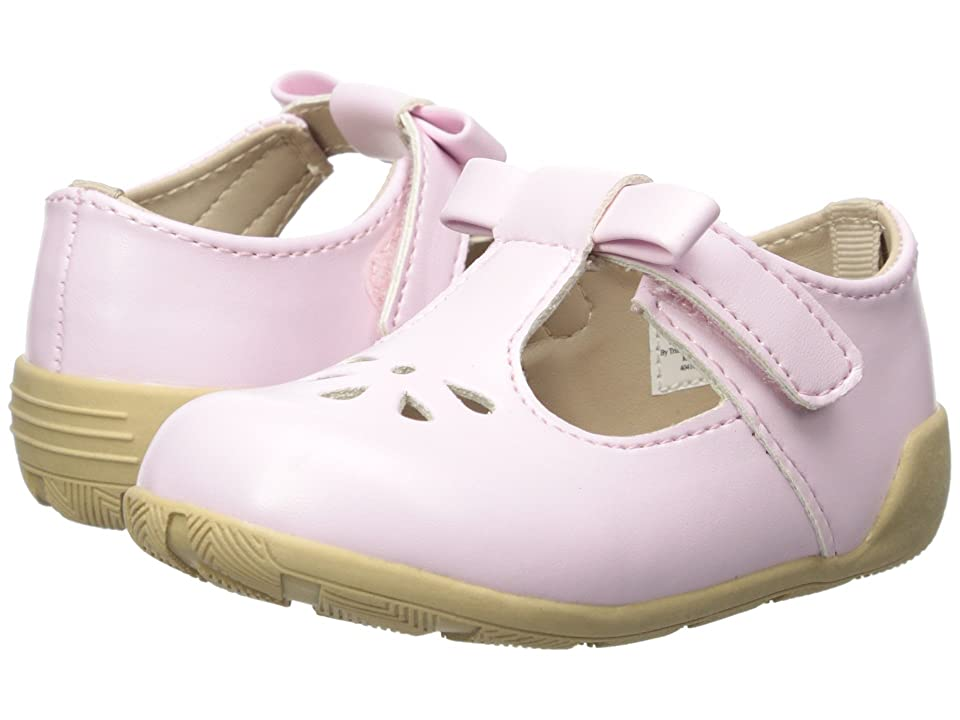 Baby Deer First Steps T-Strap with Cut Outs (Infant/Toddler) (Pink) Girl