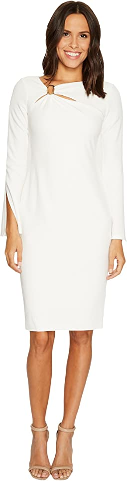 Calvin Klein - Split Sleeve Sheath with Hardware At Neck CD7C13CP