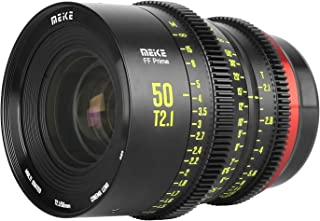 MEKE 50mm T2.1 Full Frame Manual Focus Cinema Lens for Canon Cameras with EF Mount