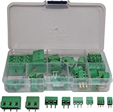 Screw Terminal Block Connector Assortment Kit 2.54/3.8/5.0/7.5mm Pitch 2/3 Pins (40 Piece, 8 Kinds)