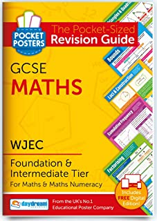 WJEC GCSE Maths (Foundation and Intermediate) | Pocket Posters: The Pocket-Sized Maths Revision Guide | WJEC Specification...