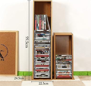 GWXJZ CD DVD Racks CD Storage Rack PS4 Game Disc Finishing Rack Solid Wood Blu-ray Disc Game Disc Shelf CD Rack (Size : 99.52