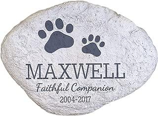 "GiftsForYouNow Personalized Pet Memorial Garden Stone, 11"" W x 8"" H x 1 ½"" D"