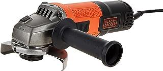 Black+Decker 750W 115mm Small Angle Grinder, Orange/Black - BEG110-GB, 2 Years Warranty