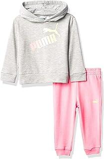PUMA baby-girls Pullover Hoodie & Jogger Leggings