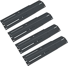QuliMetal Universal Adjustable Porcelain Steel Heat Plate Shield, Heat Tent, Flavorizer Bar, Burner Cover, Flame Tamer for Brinkmann, Charbroil, Nexgrill, Backyard, Extend from 11.75 to 21 Inch, 4 PK