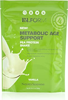 Nature's Sunshine in.Form Pea Protein Shake, Vanilla, 765 Grams | Vegan Protein Powder with Natural Pea Protein and Other Nourishing Whole Foods and Nutrients