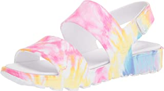Skechers FOOTSTEPS - Tie Dye Print Molded Double Strap Slingback Sandals with Luxe Foam womens Sandal