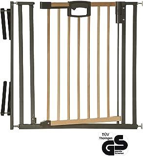 Safety 1st 2436010000 Double Install Grille de protection de porte en bois sans per/çage Marron 69 /à 104 cm