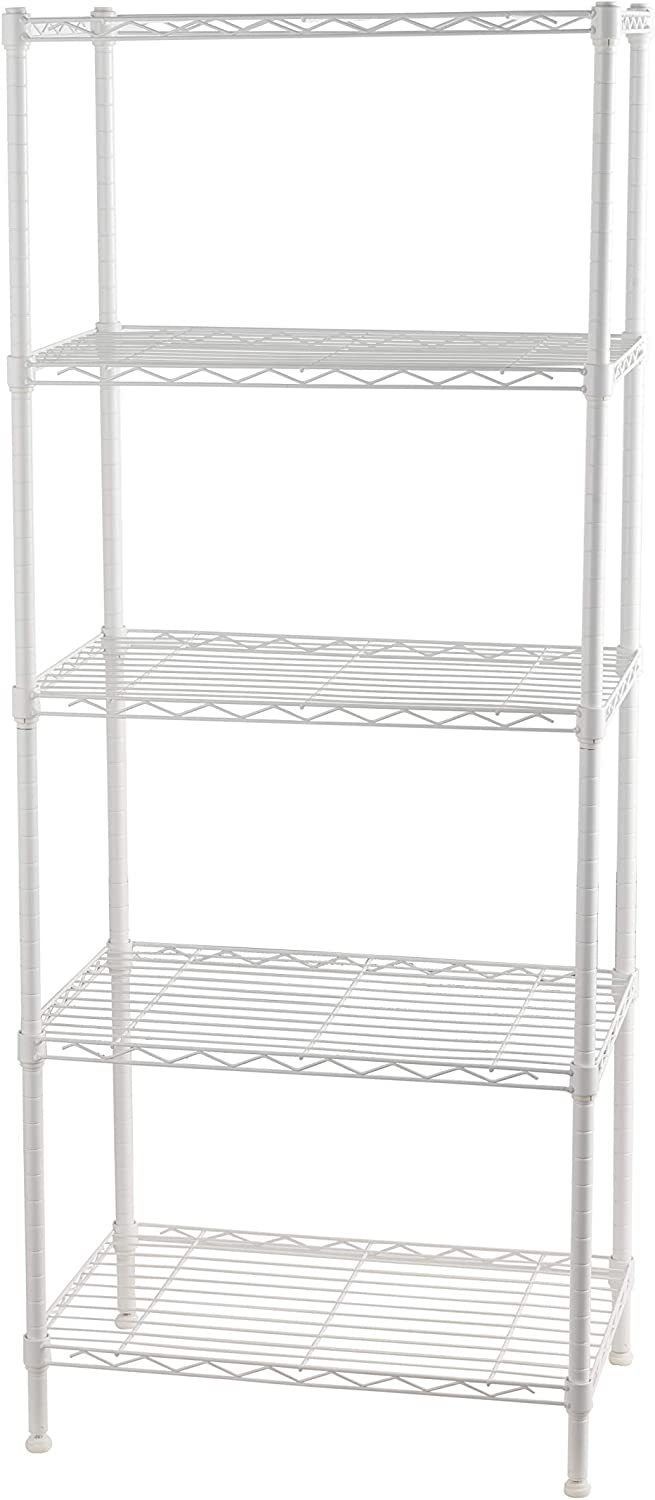 Meiberlee 5 Tier Metal Shelf 21x13x55