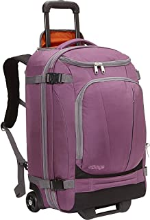 eBags TLS Mother Lode Rolling Weekender 22 Inch Travel Backpack with Wheels - Carry-On - (Eggplant)