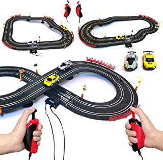 Master Class Electric Powered Slot Car Racing Kids Toy Race Track Set for Boys 3 4 5 6 7 8-16 Years Old Boys Girls Best Gifts
