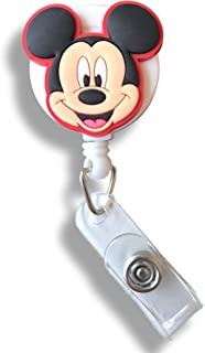 Cute Cartoon Retractable Badge Reel for ID and Name Tag Holder with Belt Clip (01)