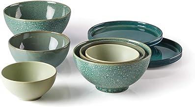 Lenox Luna Nesting Dinnerware Set, 11.4 LB, green