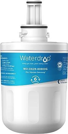 Waterdrop DA29-00003G Replacement Refrigerator Water Filter, Compatible with Samsung DA29-00003G, Aqua-Pure Plus DA29-00003B, HAFCU1, DA29-00003A, Standard