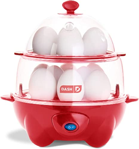 Dash Deluxe Rapid Cooker Electric for Hard Boiled, Poached, Scrambled Eggs, Omelets, Steamed Vegetables, Seafood, Dum...