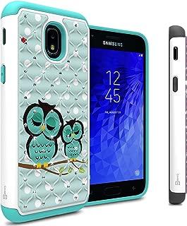 Samsung Galaxy J3 2018 Case, Express Prime 3 / J3 Star / J3 Prime 2 / Amp Prime 3 / Eclipse 2 / J3 Aura/Galaxy Achieve Case, CoverON Aurora Series Hybrid Phone Cover w/Rhinestone Diamond - Owl