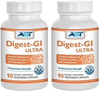 Digest-GI Ultra – 180 Vegetarian Capsules (90 x 2) - Overall Digestion Support – Premium Natural Digestive Enzyme Formula ...