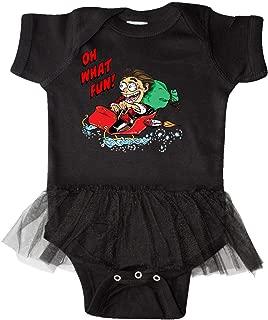 inktastic Hot Roddin' Rod in Santa's Sleigh Oh What Fun Infant Tutu Bodysuit