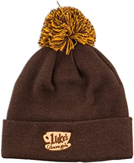 Ripple Junction Gilmore Girls Luke's Diner Embroidered Pom Beanie Dark Brown
