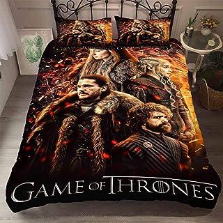 Juego de ropa de cama de SSIN, juego de cama con impresión 3D Game of Thrones, microfibra, 3 piezas, ropa de cama, 07, 200 x 200 cm