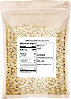Just Macadamia Nuts (Raw, Non-GMO Project Verified, Certified Gluten Free, Healthy Fat, Wholesale Price)… (Halves and Piec...