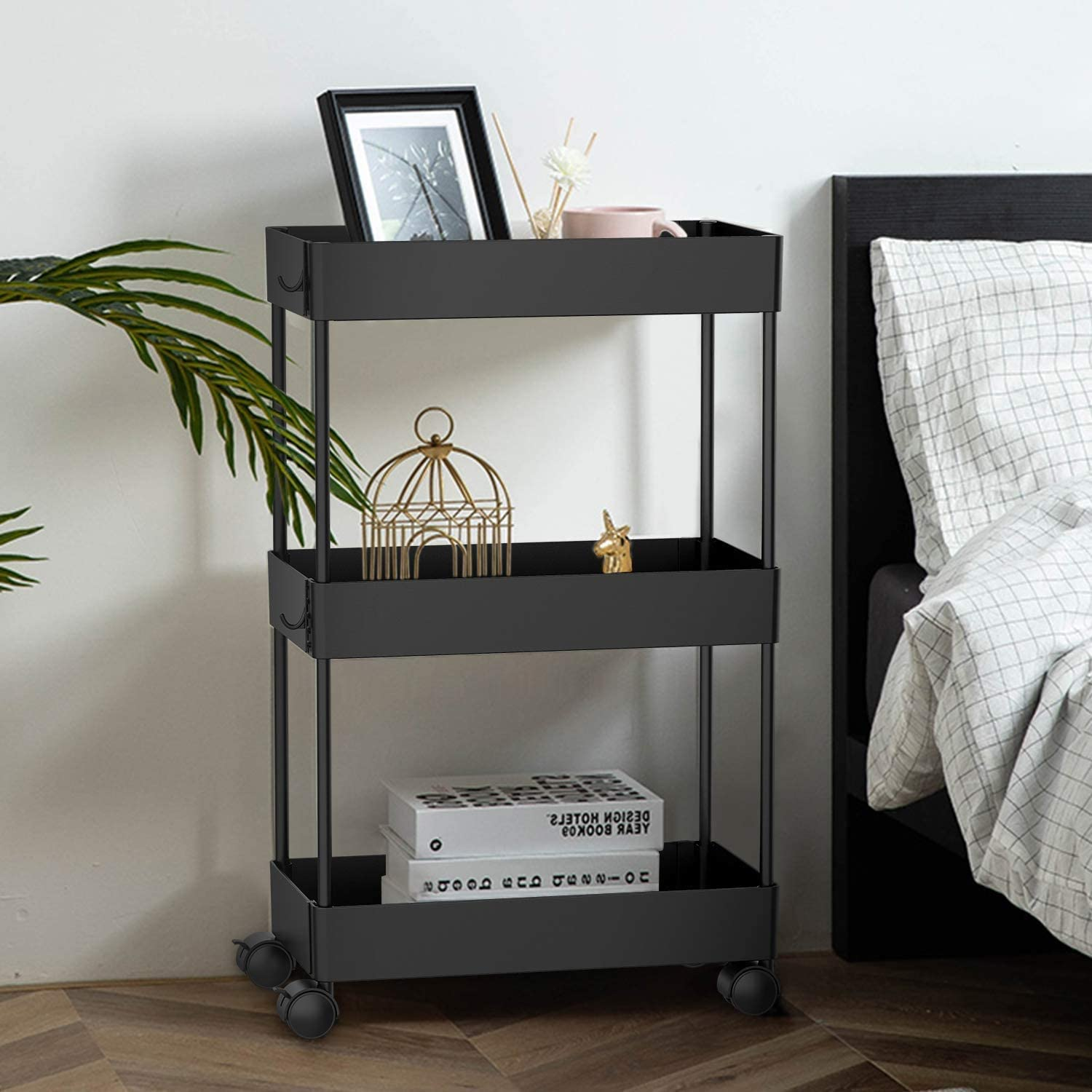 Rebertry Serving Trolleys OFFicial store Standing Shelf Organize Excellence Bathroom Units