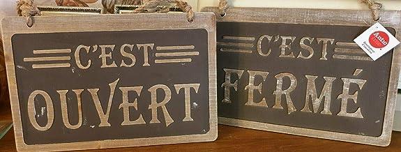 40 cm Antic Line Plaque//Panneau Bois en Relief Toilettes en Cas 30