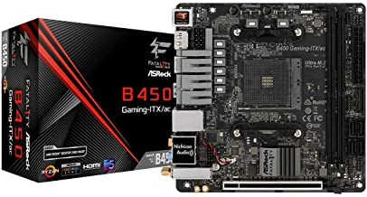 ASRock Mini-ITX Motherboard (B450 Gaming-ITX/AC)