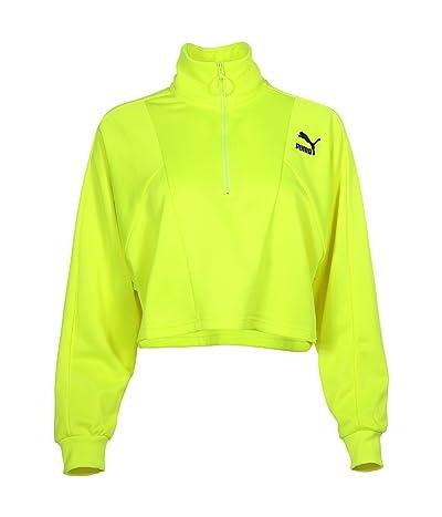 PUMA Tailored For Sport Cropped 1/2 Zip (Yellow Alert) Women