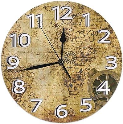 3 tailles : 30,5 cm Eruner Horloge murale style shabby chic chambre cuisine Italian style 40,6 cm couleur et effet de bois vieilli id/éale pour bureau 12-inch salle de bain 35,5 cm