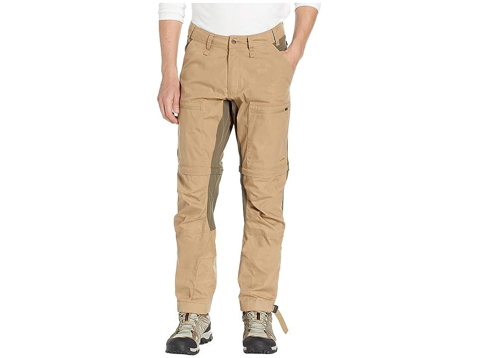 Fjallraven Abisko Lite Trekking Zip Off Trousers (Sand/Tarmac) Men