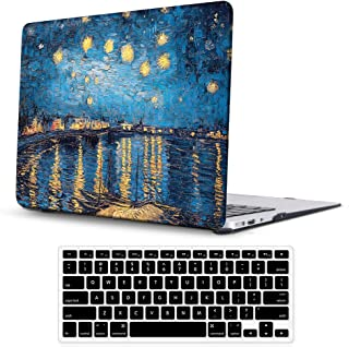 Sumplee MacBook Air 13 Inch Case A1369/A1466 Release 2010-2017 Older Version,Thin Plastic Anti-Scratch Hard Shell Protective Case with Keyboard Cover Compatible for MacBook Air 13 Inch (Oil Painting)
