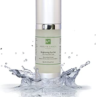 Eye Gel Cream for Dark Circles, Puffiness, Bags and Wrinkles by Keelyn Grace - Plant Stem Cell Therapy with Echinacea, Cucumber, Aloe and Licorice, Rich In Peptides, Vitamin C, Hyaluronic Acid
