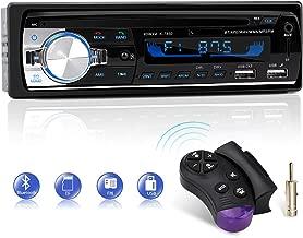 Autoradio Bluetooth, CENXINY Radio para Coche Llamadas Manos Libres Control Remoto Radio FM 4x65W Estéreo de Coche con Reproductor de MP3 USB y Bluetooth 4.2, Soporte iOS y teléfono Android
