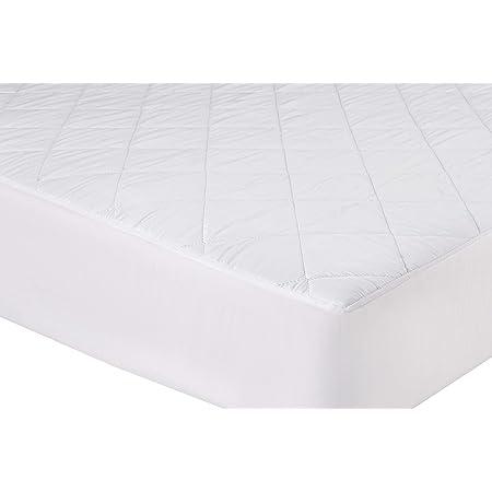 npt - Protector de colchón/Cubre colchón ajustable Acolchado, Transpirable e Hipoalergénico. (90x190)