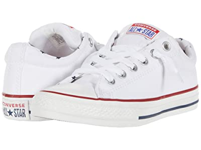 Converse Kids Chuck Taylor(r) All Star(r) Street Starry Slip-On (Little Kid/Big Kid) (White/Obsidian/White) Girl