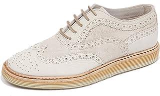 F4746 Scarpa uomo Ivory CORVARI Scarpe Vintage Effect Shoe Man