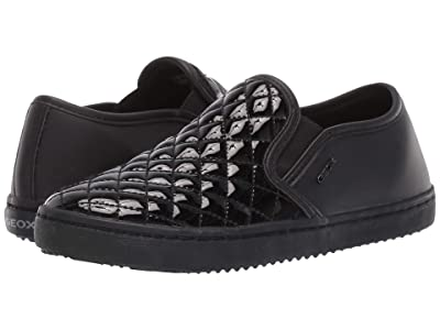 Geox Kids Jr Kalispera 27 (Little Kid/Big Kid) (Black Oxford) Girls Shoes